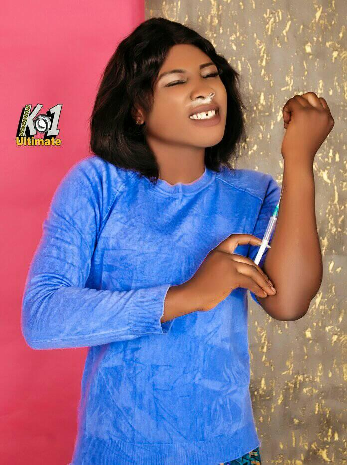 Drug abuse: Ogboye Oluwabunmi Elizabeth expresses a way a person can take drugs through injection.
