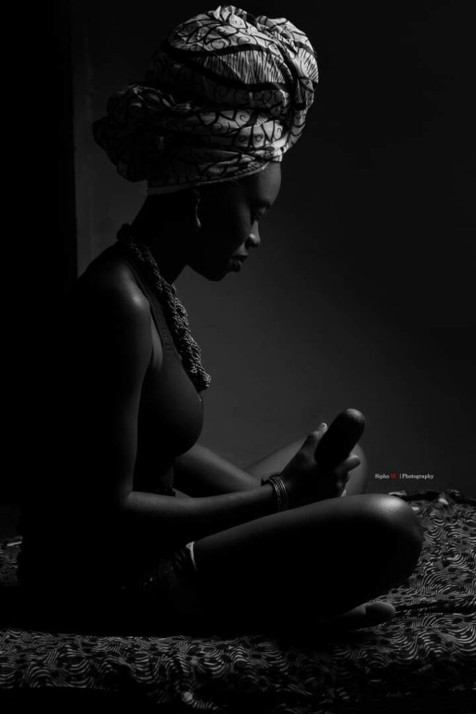 Precious Mumba in African get-up