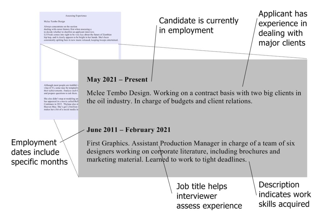 How to Assess a Curriculum Vitae (Preparing for an Interview)