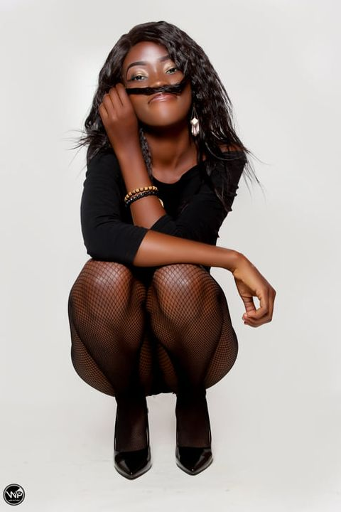 Candy Kambole Overhauls her Style in Black Fishnet Tights