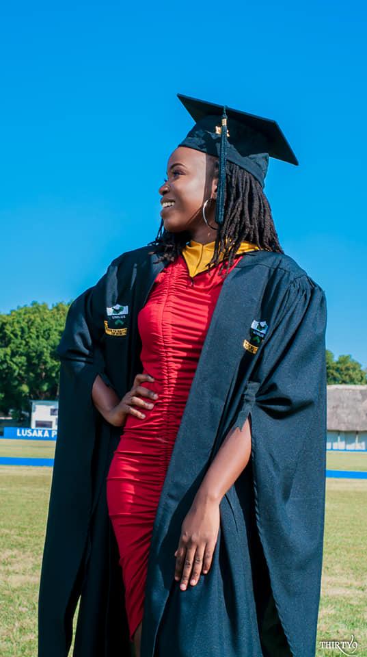 Mwiza Zulu on her Graduation