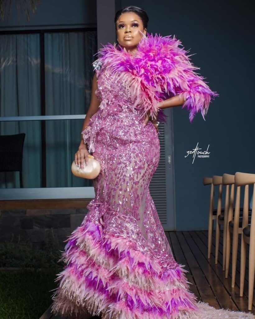 """""""@quiteria_atelier hand stitched this dress on my body in seven hours ... I'm still in awe.This is what we call gifted hands."""" - Mampi Lusaka July, 2021"""