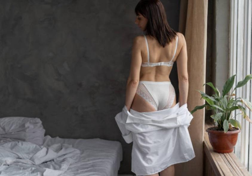 Elegant girl in lingerie